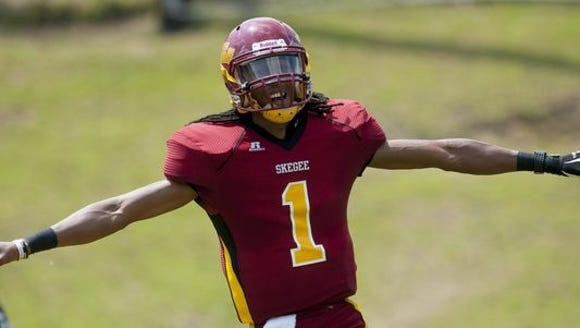 Tuskegee senior Kevin Lacey went 8-for-8 in last week's