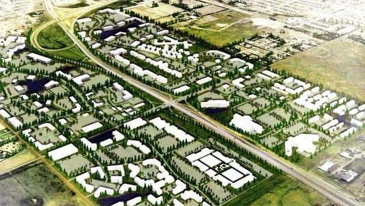A 2015 rendering shows a potential overpass at 85th Street. However, project ambitions have shifted since then to include a fully-functioning interchange with on- and off-ramps to Interstate 29.