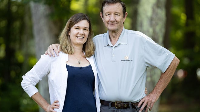 Erin Palumbo with her father, Donald Fitzgibbons