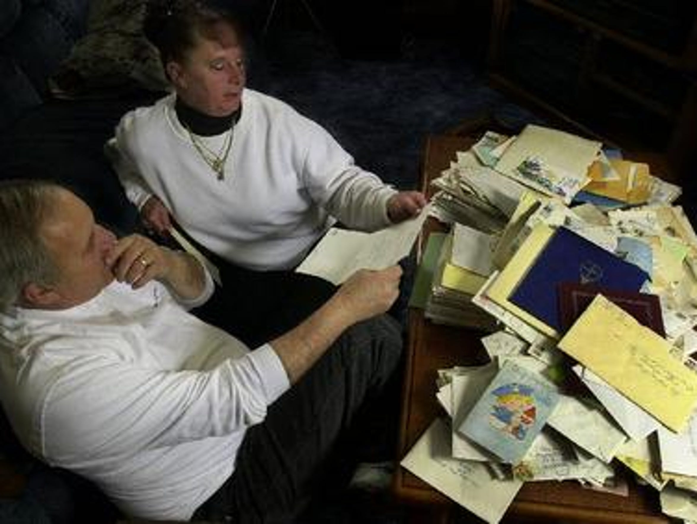 In this 2004 photo, David and Jean Lindsey in their
