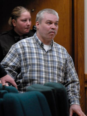 Steven Avery is escorted into the courtroom on March 7, 2007 at the Calumet County Courthouse in Chilton.