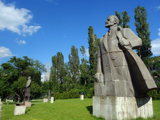 It once towered over Sofia from a pillar in the city center, but now this statue of Lenin is a relic in a museum sculpture garden.