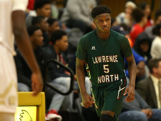 Lawrence North's Jared Hankins