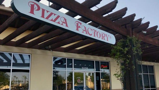 A suspect barricaded himself inside Visalia's Pizza Factory to escape arrest.