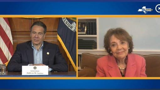 Gov. Andrew Cuomo wishes his mother Matilda Cuomo happy Mother's Day on Sunday.