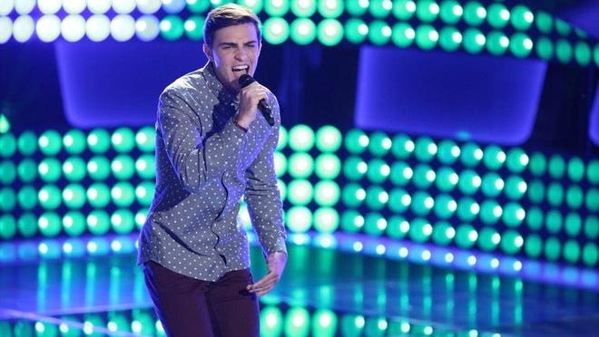"Ricky Manning performs Monday night on ""The Voice."""