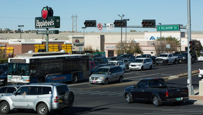 New Mexico was rated the sixth worst drivers in the nation for the second year in a row. Pictured is the intersection of South Telshor and Lohman ave, Wednesday, November 23, 2016.