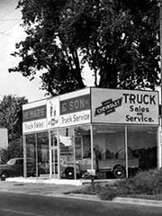 Hare Chevy in Noblesville in the 1940s.