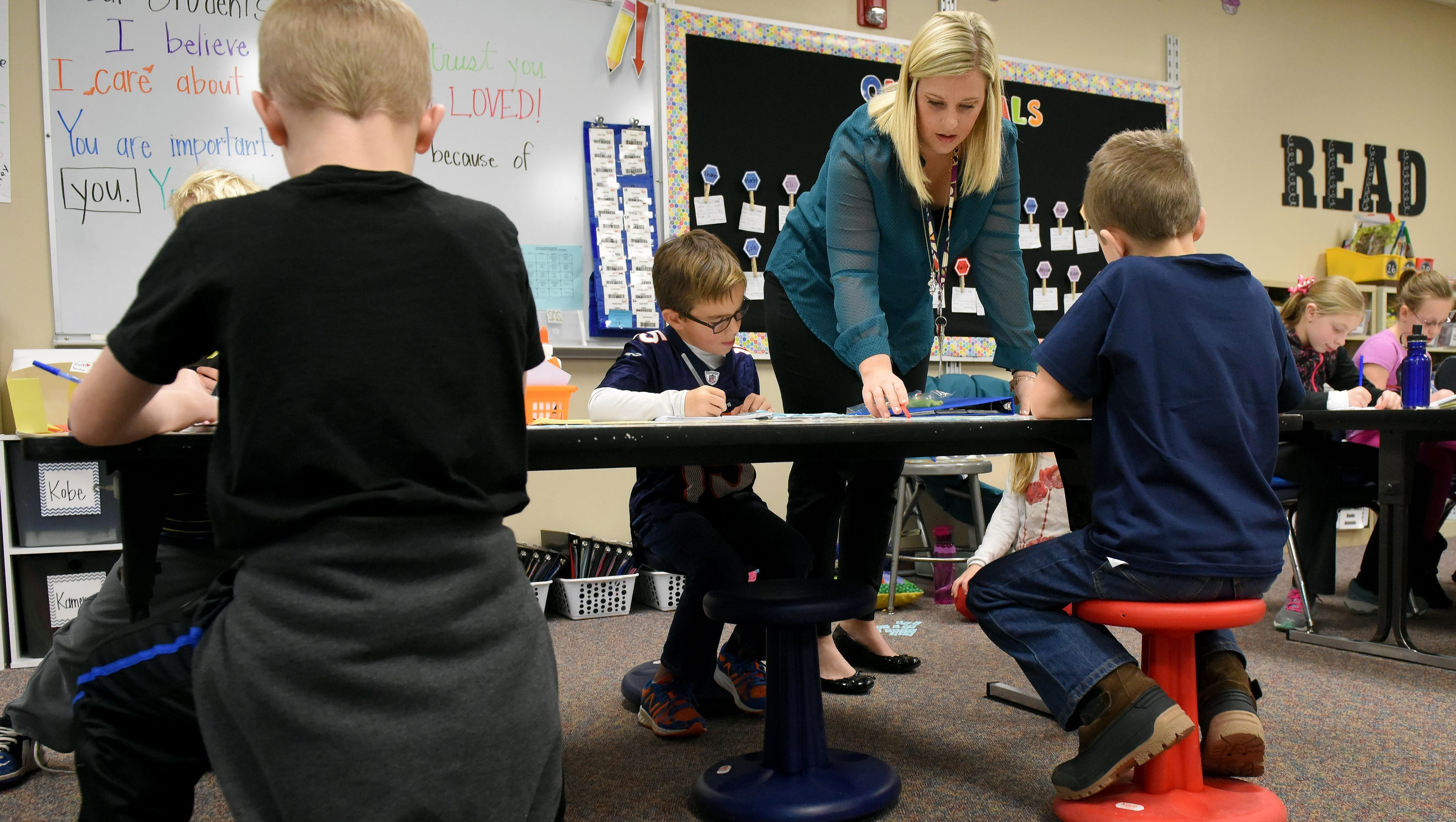 Flexible seating helps students wiggle while they work