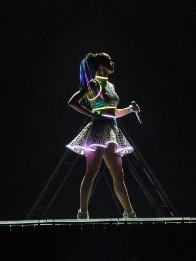 Multi-platinum selling singer Katy Perry brought her high-octane stage performance to the KFC YUM! Center on Saturday night. Photo by Marty Pearl/Special to The C-J