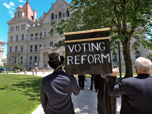 Voting reform rally