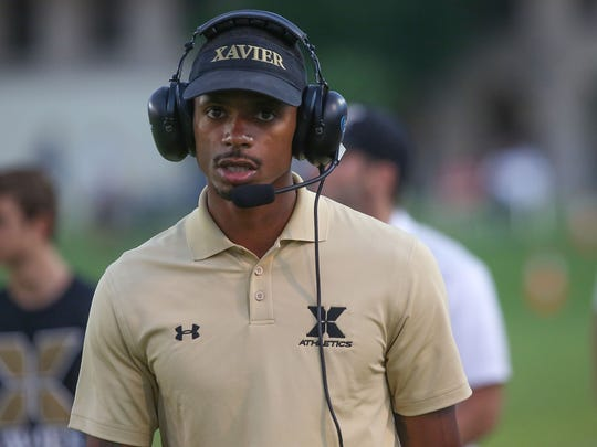 Xavier coach James Dockery coaches against Twentynine