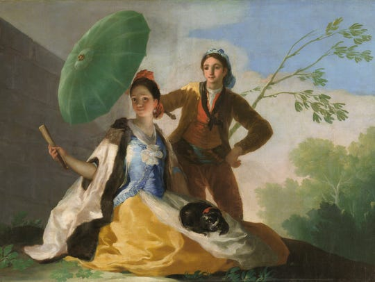 """El quitasol / The Parasol,"" oil on canvas by Francisco"