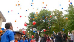 Students releasing balloons in 2016 to celebrate Armenia's