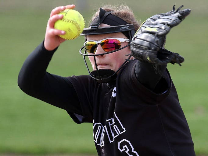 Kayla Neis delivers a pitch during a game against Pewaukee