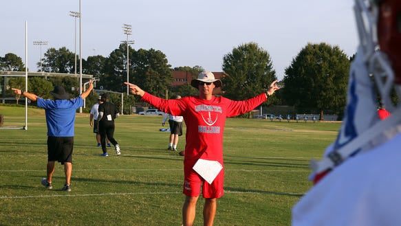 Louisiana Tech's Tim Rattay is pictured in practice