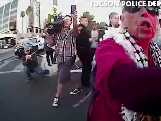 Body-cam footage from Tucson protest