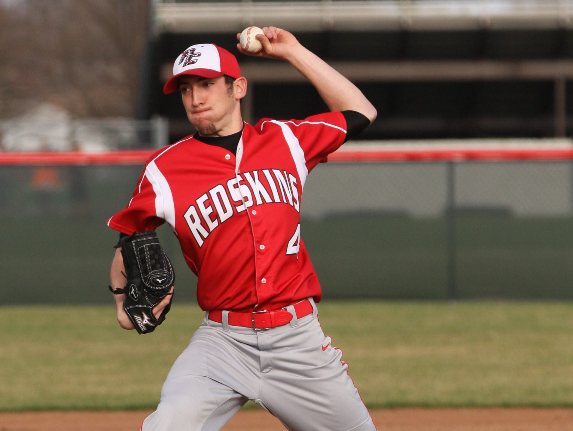 Port Clinton's Trevor Monk got the win in the Redskins' 2-1 victory Tuesday over Oak Harbor.