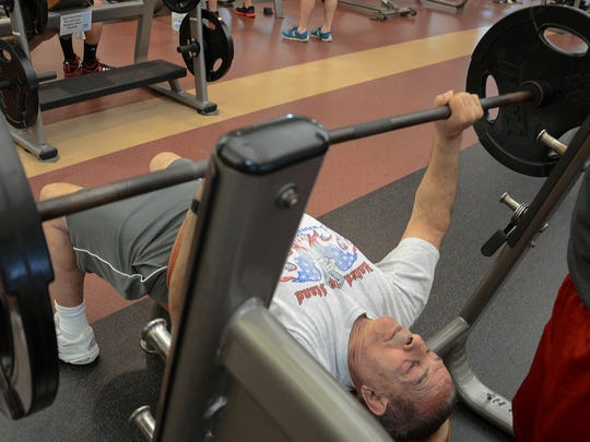 Vito Lombardo works out at Health First's Pro-Health and Fitness Center in Viera