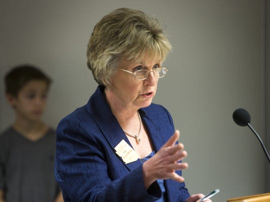 State Sen. Kate Brophy McGee, of Phoenix, opposes the school-voucher legislation.