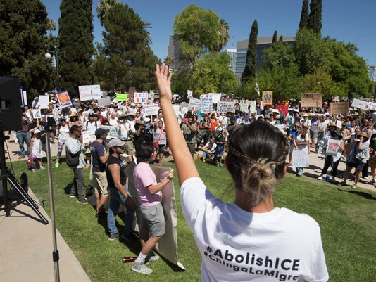 Families Belong together rally in Tucson