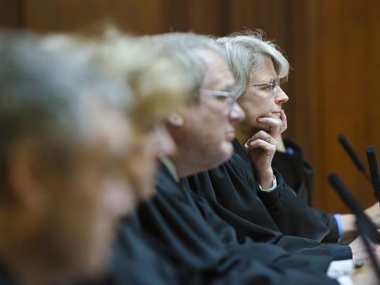 Vermont Supreme Court justices listen in Montpelier
