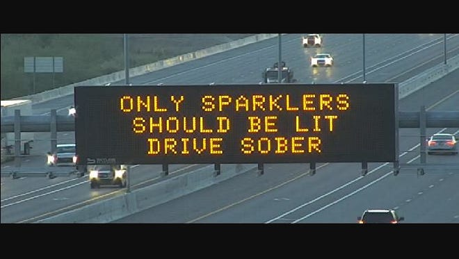The Arizona Department of Transportation's message for the Fourth of July.