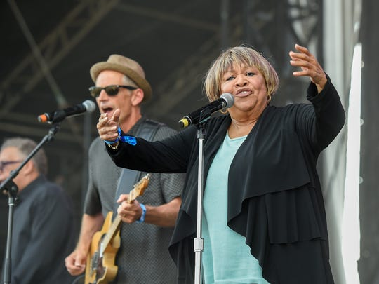 Mavis Staples performs at the 2017 Pilgrimage Music and Cultural Festival in Franklin, Tenn., Sunday, Sept. 24, 2017.