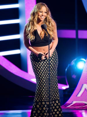 Mariah Carey appears on stage at BET Networks' Black Girls Rock! on Oct. 26, 2013 in Newark, N.J.
