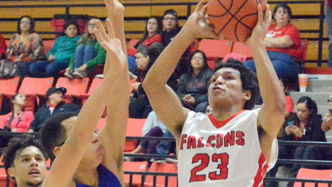 Loving junior forward Timothy Porras gives the Falcons an inside presence shooting and rebounding the ball.