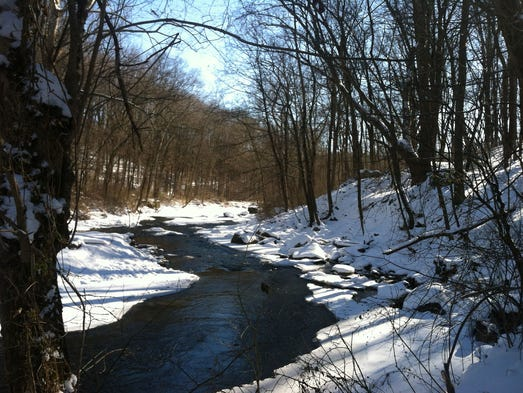 Once you breathe the fresh air on one of these hikes, you might not mind the wait for spring so much. White Clay Creek, Delaware and Pennsylvania: Less than an hour's drive from Philly and only half an hour from Wilmington, Del., White Clay Creek State Park and Preserve is a rustic respite from city. Carl Ewald, founder of Philadelphia-based TerraMar Adventures,  recommends the Penndel trail, a converted rail trail along the creek that begins on the Pennsylvania side. This graded out-and-back affords wooded views of the frozen creek and has mile markers so hikers can choose when to turn around.