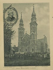 A souvenir booklet featuring Holy Redeemer Church.