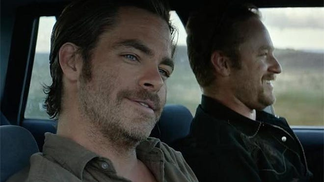 """Hell or High Water:"" Chris Pine, left, and Ben Foster star as brothers who go on a bank-robbing spree.  Jeff Bridges earned a Best Supporting Actor nomination for his role as the lawman who tracks them."