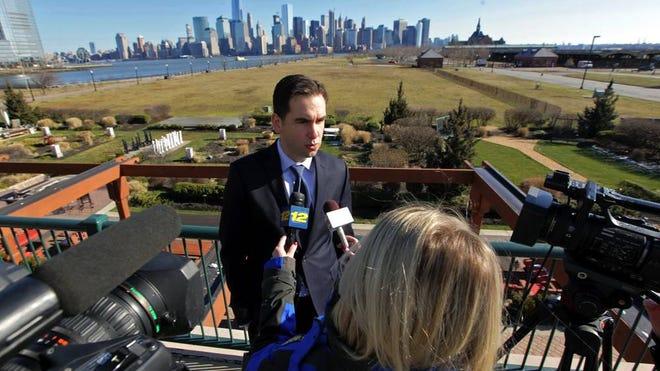 Jersey City Mayor Steve Fulop at Liberty State Park.