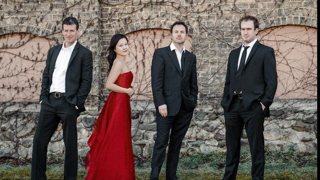 The Euclid Quartet -- Luis Enrique Vargas, Jacqueline Choi, Jameson Cooper and Brendan Shea -- superbly handled works by Beethoven and Debussy Tuesday at the Flagler Museum.