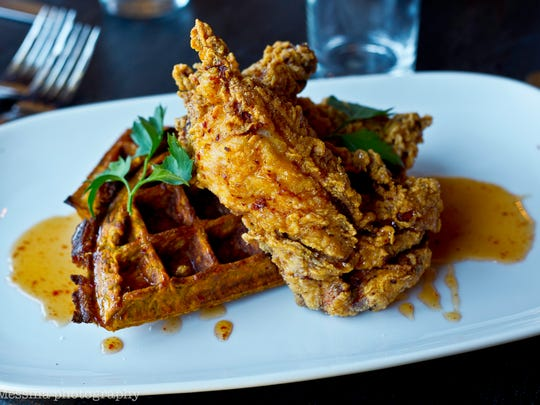 The chicken & waffles at South + Pine in Morristown and Central + Main in Madison Credit: South + Pine