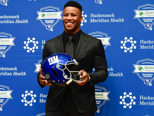 NFL: New York Giants-Saquon Barkley Press Conference