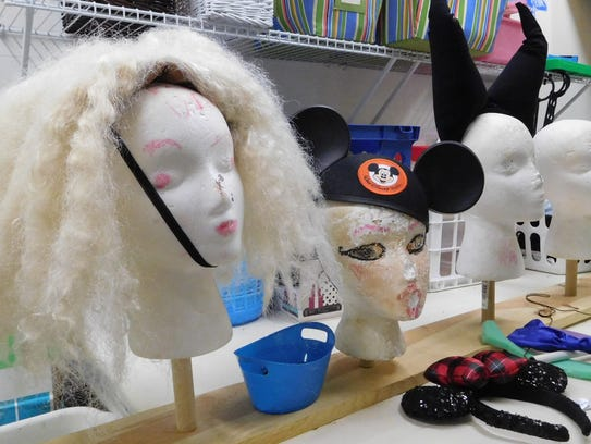 Wigs and headpieces helped the characters come alive