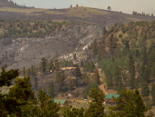 An area near Panguitch Lake was burned by the Brian