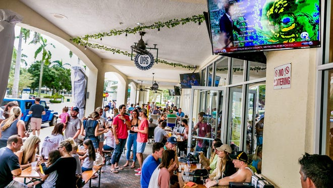 Das Beer Garden and JJ Muggs Stadium Grill, shown in this 2019 photo prior to Hurricane Dorian's arrival, will join two other restaurants at Downtown Abacoa to host an Open-Air Dining Weekends event beginning Friday.