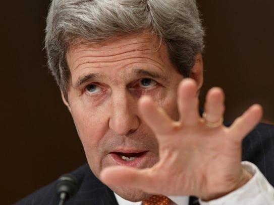 Secretary of State John Kerry testifies Feb. 24 before