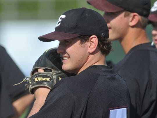 Jake Carr, a Richmond High School and Earlham College graduate, during his senior baseball season at Earlham College in 2010.