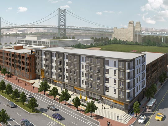 A rendering of 11 Cooper Street, which will bring 156 new apartments to the Camden Waterfront.