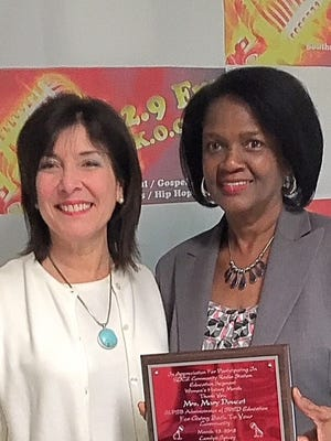 Mary Doucet, administrator of special education and June Inhren, supervisor of early childhood education, were honored this week.