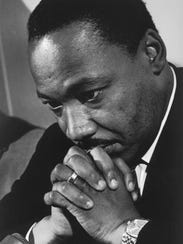 Dr. Martin Luther King Jr. is seen in this 1968 photo