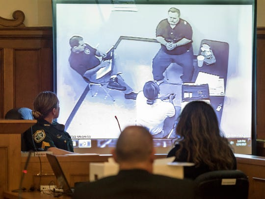 A video recording of Derrick Ray Thompson's police