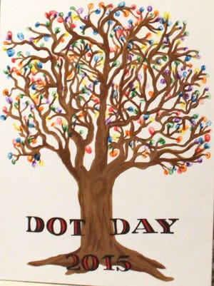 Baxterville School students celebrated Dot Day with artwork and an assembly