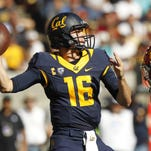Oct 31, 2015; Berkeley, CA, USA; California Golden Bears quarterback Jared Goff (16) prepares to throw a pass against the Southern California Trojans in the third quarter at Memorial Stadium. The Trojans defeated the Bears 27-21. Mandatory Credit: Cary Edmondson-USA TODAY Sports