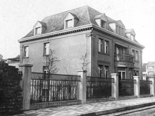 After World War I, Fritz Grunewald went into the metal business and prospered. He built this stately house on Freytagstrasse in Duesseldorf, Germany, in 1921.