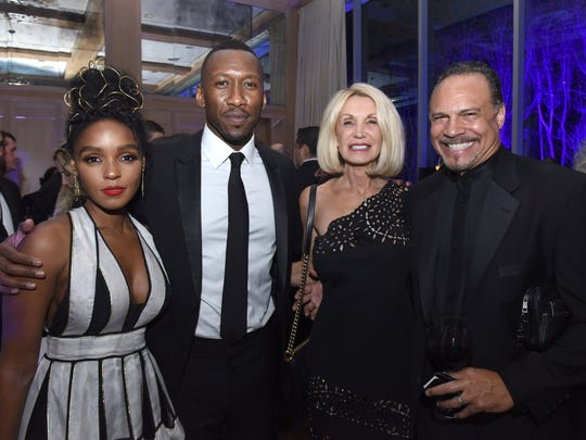 Singer Janelle Monae, actor Mahershala Ali, Dodi Henry and Kevin Henry attend the 28th Annual Palm Springs International Film Festival at Parker Palm Springs on January 2, 2017 in Palm Springs, California.